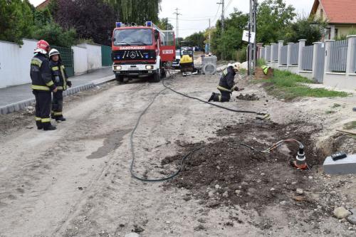 Gázvezeték szakítás Szentendrén