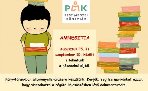 Amnesztia a Pest Megyei könyvtárban