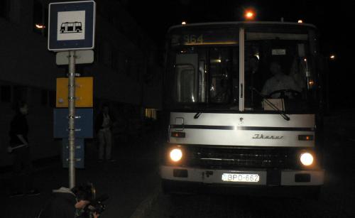 Éjszakai busz Szentendrén