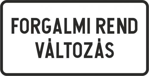Forgalmi rendváltozás az Ister napok alatt