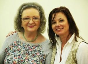 Ivancsics Ilona és Farkasházy Réka a stúdióban.