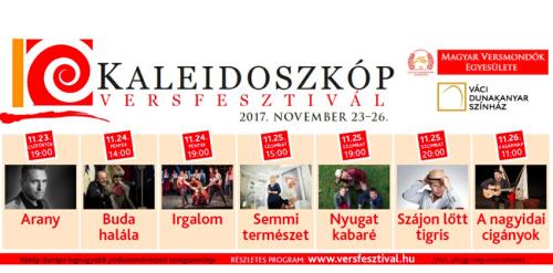 Összművészeti programok a váci Kaleidoszkóp VersFesztiválon