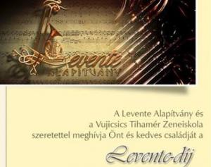 Koncert kíséri a Levente-díj átadását